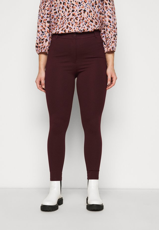 SUSTAINABLE TREGGING PONTE TROUSER - Leggings - Trousers - purple