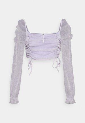 RUFFLE CROP - Long sleeved top - dusty pink