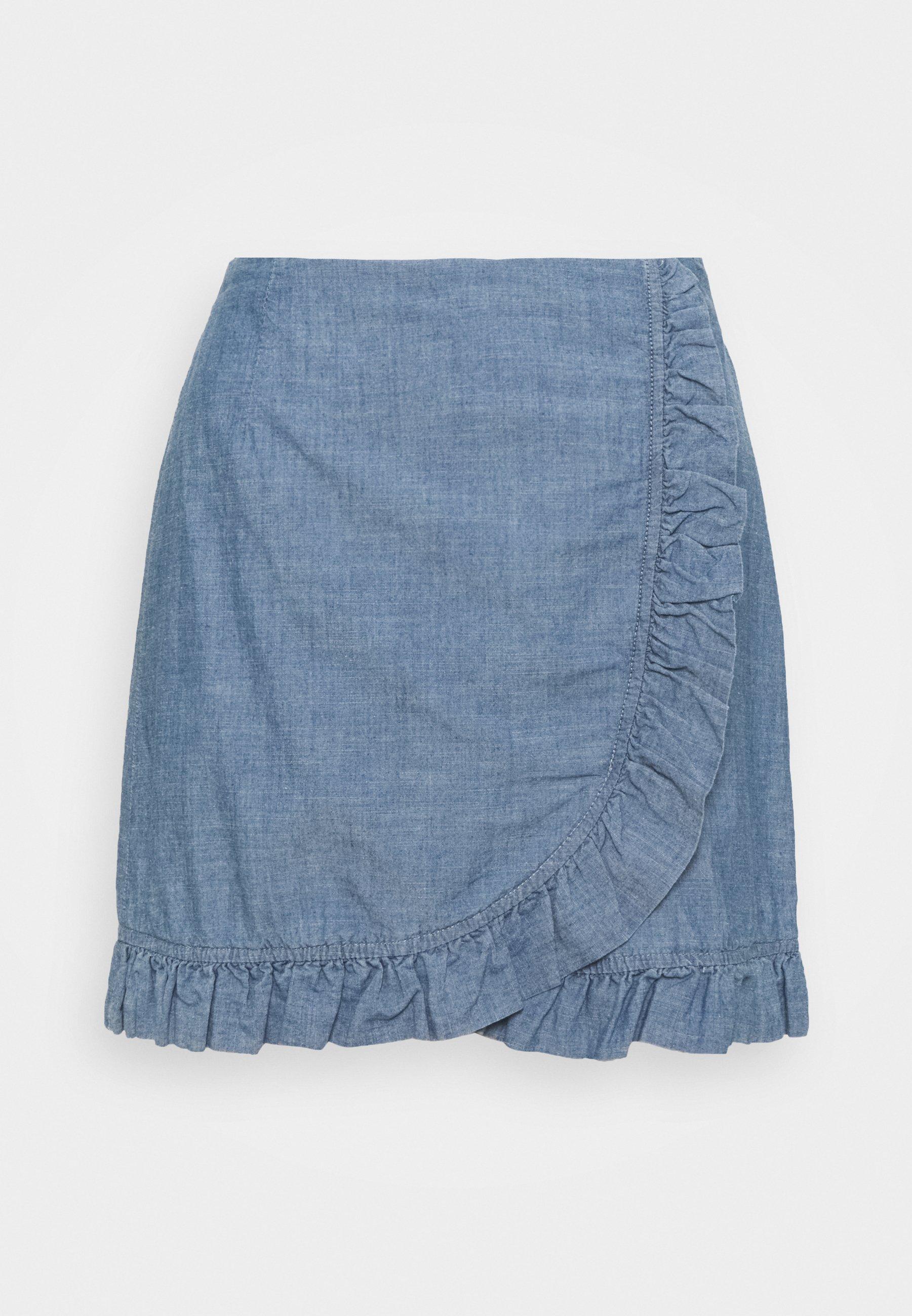 Femme VMAKELA FLOUNCE - Minijupe - medium blue