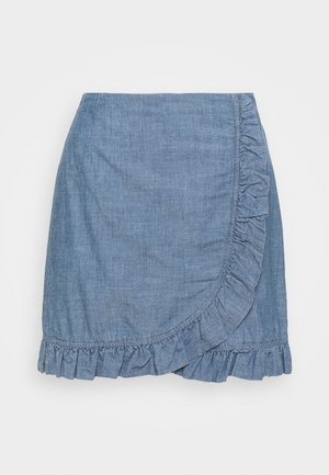 VMAKELA FLOUNCE - Mini skirt - medium blue