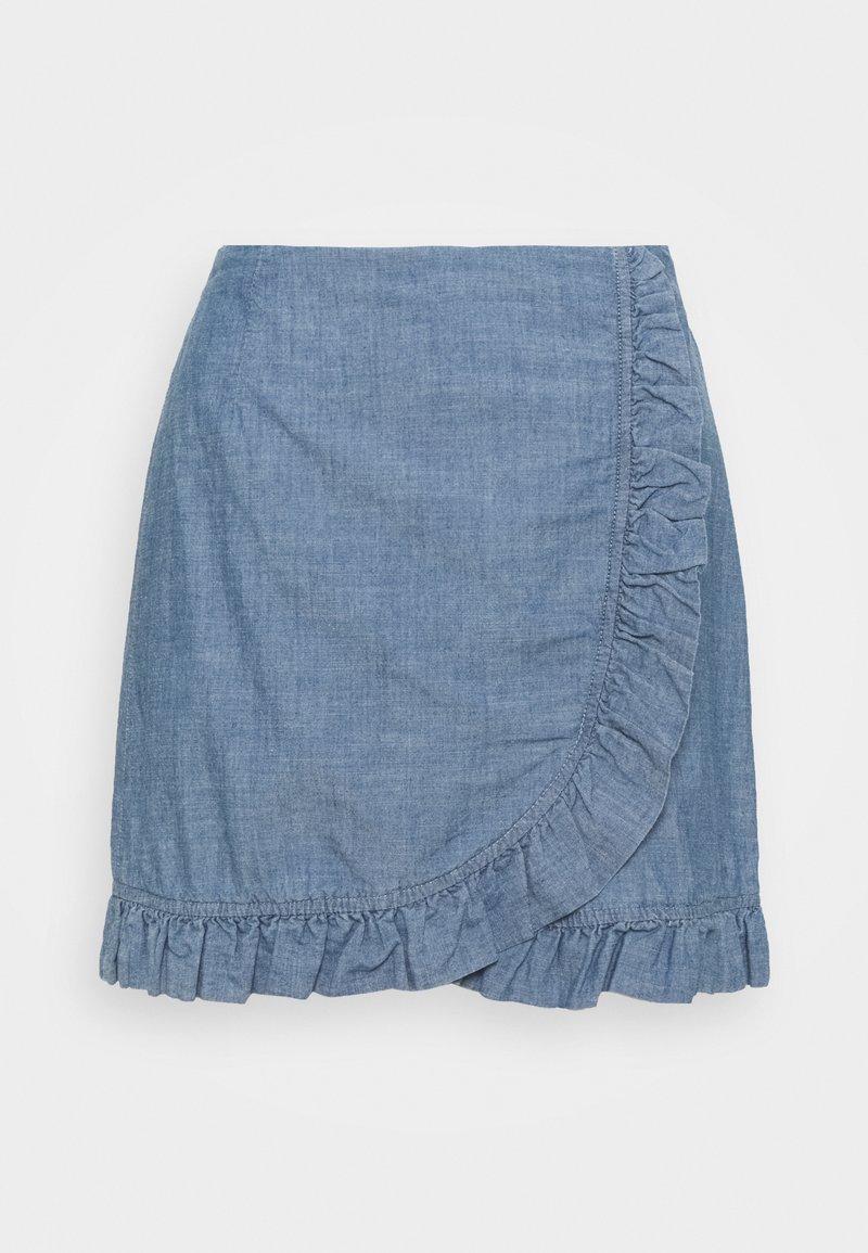 Vero Moda - VMAKELA FLOUNCE - Minifalda - medium blue