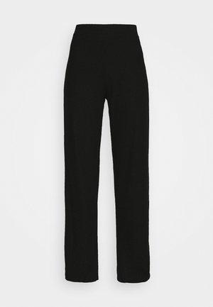 ONLLIZA WIDE PANTS - Trousers - black