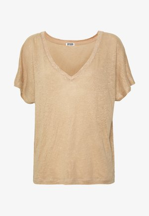 SVANA - T-shirts med print - cognac