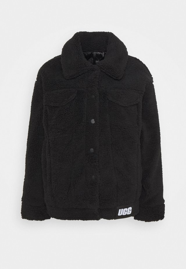 FRANKIE SHERPA TRUCKER JACKET - Winterjas - black