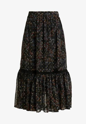 OBJMILO SKIRT - A-line skjørt - black/multi coloured