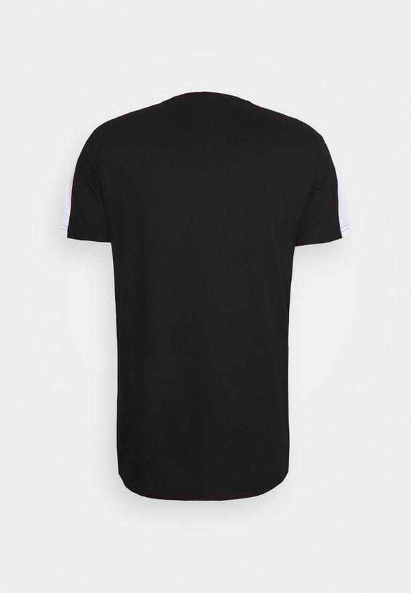 Brave Soul LANTANA - T-shirt z nadrukiem - jet black/czarny Odzież Męska QKCI