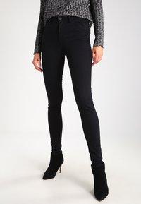 Lee - SCARLETT HIGH - Jeansy Skinny Fit - black rinse - 0