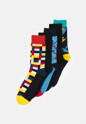 JACGEO SHAPE SOCKS 5 PACK - Calze - navy blazer