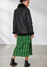 Next - Faux leather jacket - black - 1