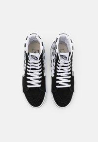 Vans - SK8 UNISEX - High-top trainers - black/true white - 3