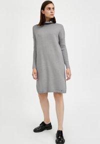 Finn Flare - Jumper dress - grey melange - 1