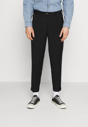 JJIBILL JJJORDY CROPPED - Pantalon classique - black