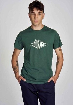 T-shirt print - posy green