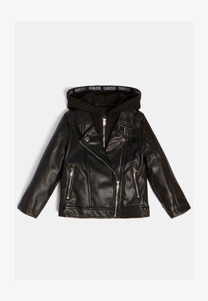 KUNST - Leather jacket - schwarz