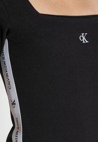 Calvin Klein Jeans - SQUARE NECK DRESS - Jersey dress -  black - 4