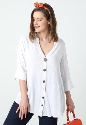 Overhemdblouse - blanc