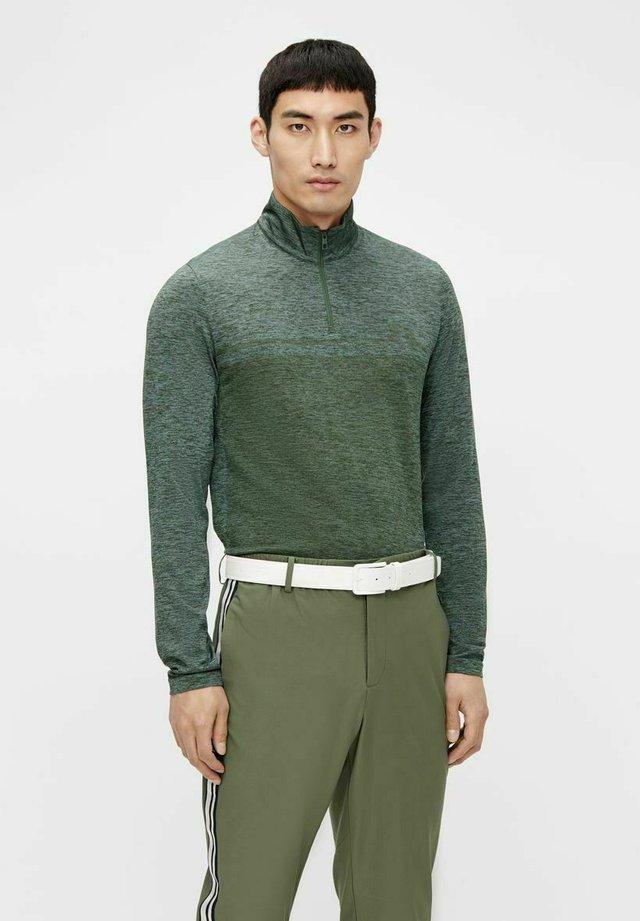 JOEY SEAMLESS - Pullover - thyme green melange