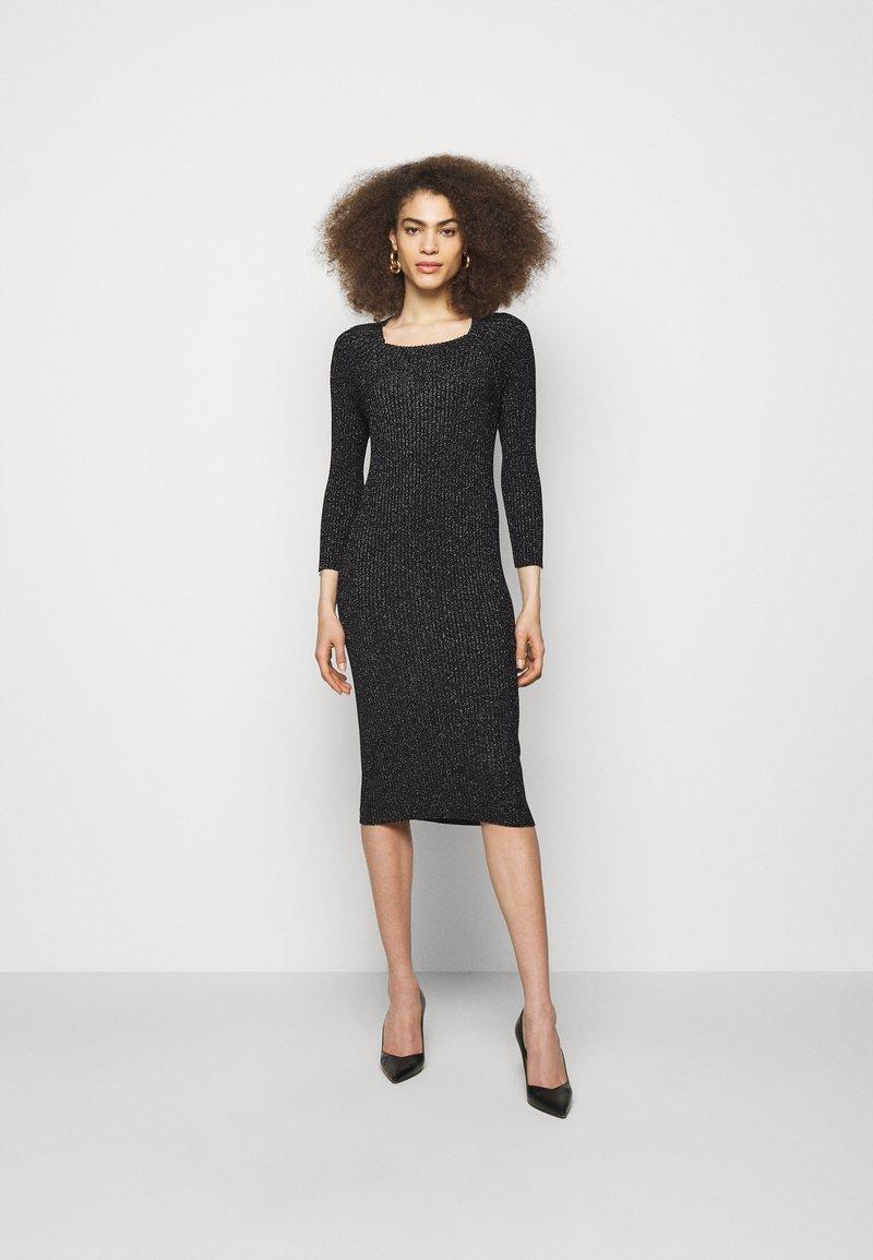 LIU JO - ABITO MAGLIA - Shift dress - black