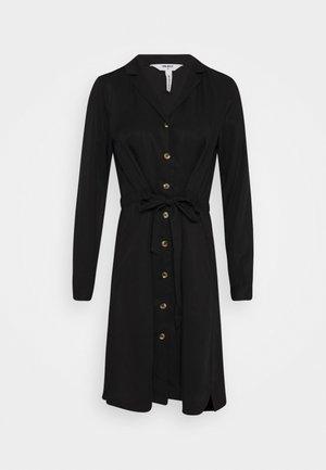 OBJTILDA BUTTON DRESS - Day dress - black