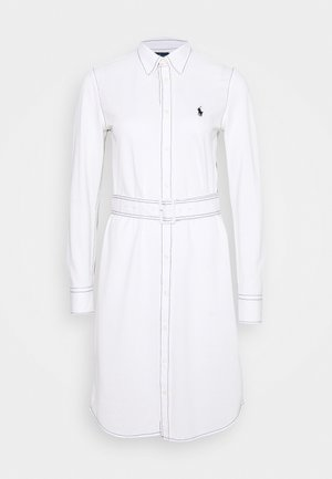 HEIDI LONG SLEEVE CASUAL DRESS - Day dress - white