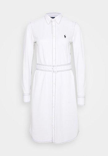 HEIDI LONG SLEEVE CASUAL DRESS - Košilové šaty - white
