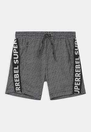 TEXT TAPE UNISEX - Swimming shorts - black/white