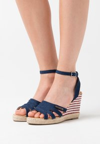 Kaporal - MONTY - High heeled sandals - marine - 0