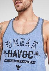 Under Armour - PROJECT ROCK TANK WREAK HAVOC - Sports shirt - heron light heather/black - 3