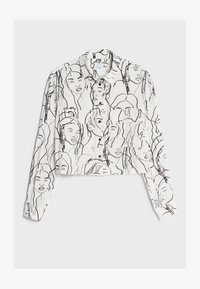 Bershka - Button-down blouse - dark grey - 4