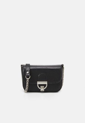 LAUREN LIZARD CHAIN SHOULDER - Skulderveske - black