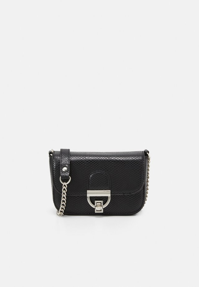 LAUREN LIZARD CHAIN SHOULDER - Across body bag - black