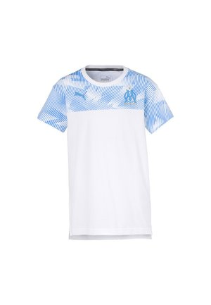 OLYMPIQUE DE MARSEILLE  - Club wear - white-bleu azur