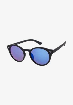 JAQUIM - Sluneční brýle - matt black/blue lens