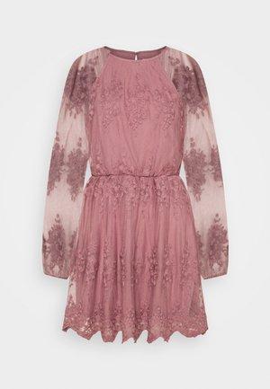 FLORAL DRESS - Juhlamekko - dusty pink
