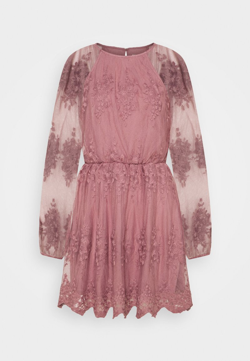 Nly by Nelly - FLORAL DRESS - Cocktail dress / Party dress - dusty pink