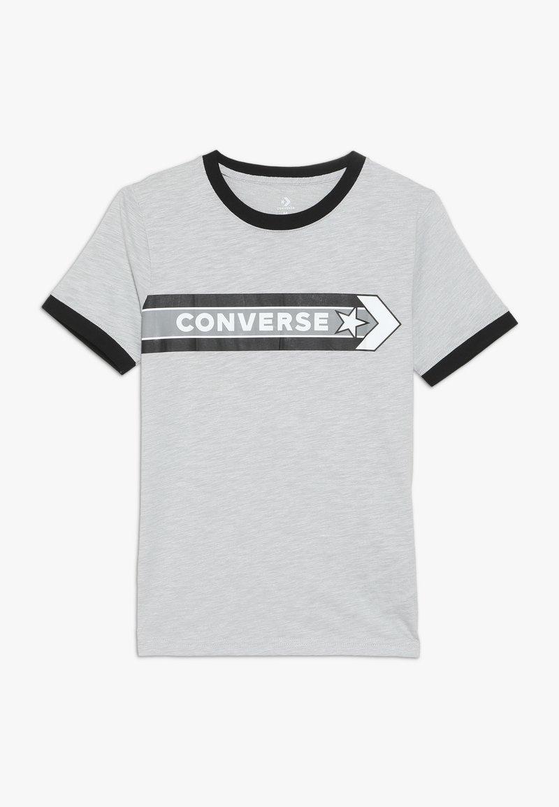 Converse - SPORT STRIPE RINGER TEE - T-shirt print - grey heather