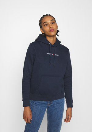 LINEAR LOGO HOODIE - Bluza z kapturem - twilight navy