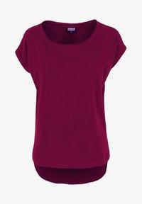 Urban Classics - SLUB TEE - Basic T-shirt - burgundy - 5