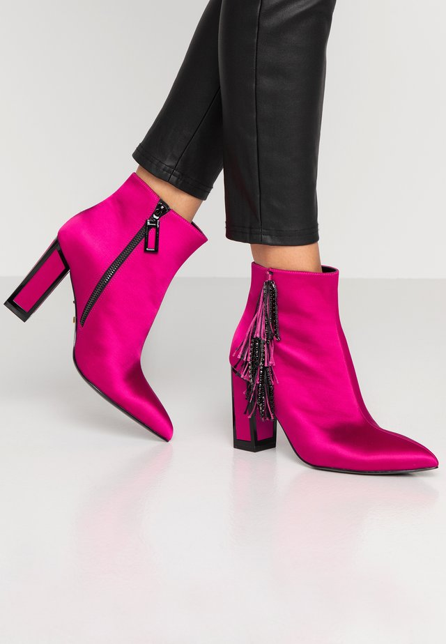 ALICIA - High heeled ankle boots - teaberry