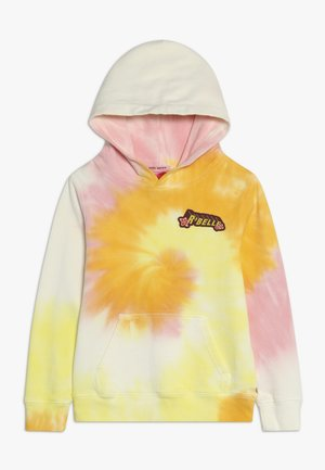 TIE DYE HOODY WITH CHEST BADGE - Hoodie - multi-coloured