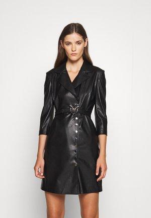GARDEN ABITO SIMILPELLE - Shirt dress - black
