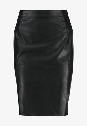 VMBUTTERSIA COATED SKIRT - Bleistiftrock - black