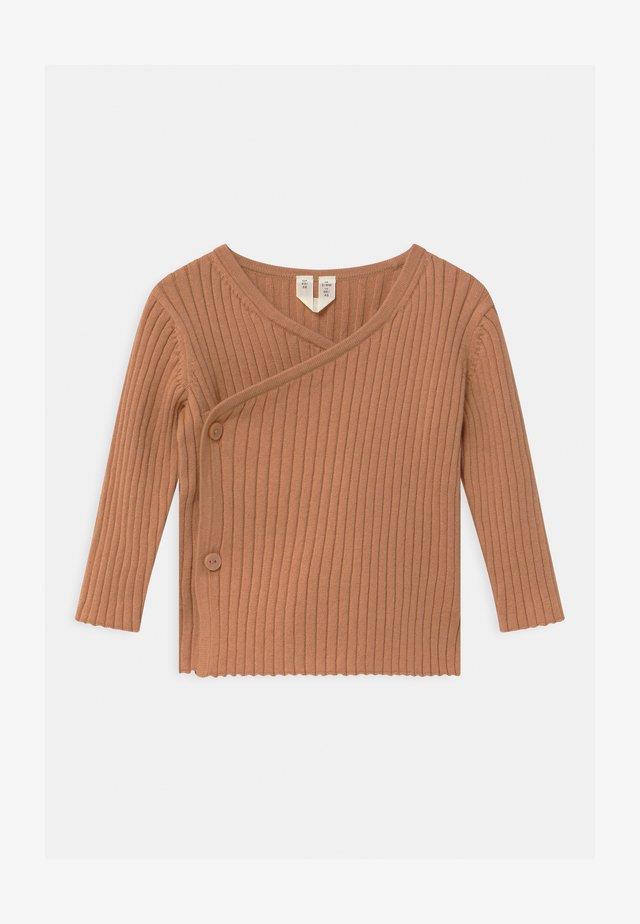 CARDIGAN - Cardigan - beige/brown