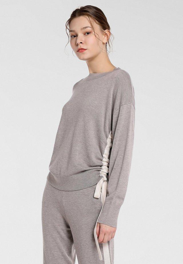 Pullover - taupe melange