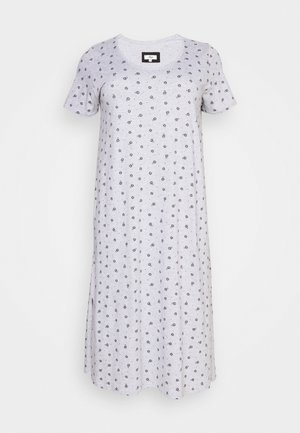 FLORAL AND SPOT PRINT LONG NIGHTDRESS - Negligé - grey