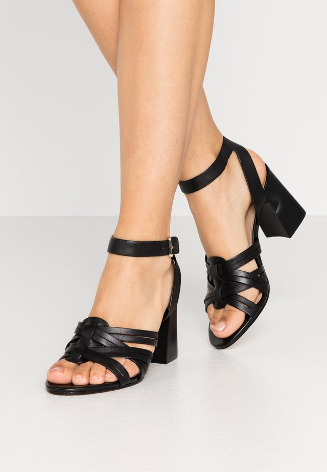 HOLLANDSE - High heeled sandals - black