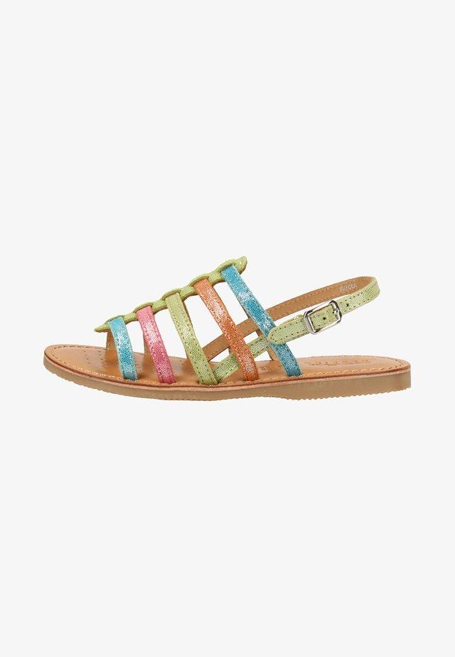Sandaalit nilkkaremmillä - multi-coloured