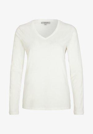 MIT V-AUSSCHNITT - Long sleeved top - cream