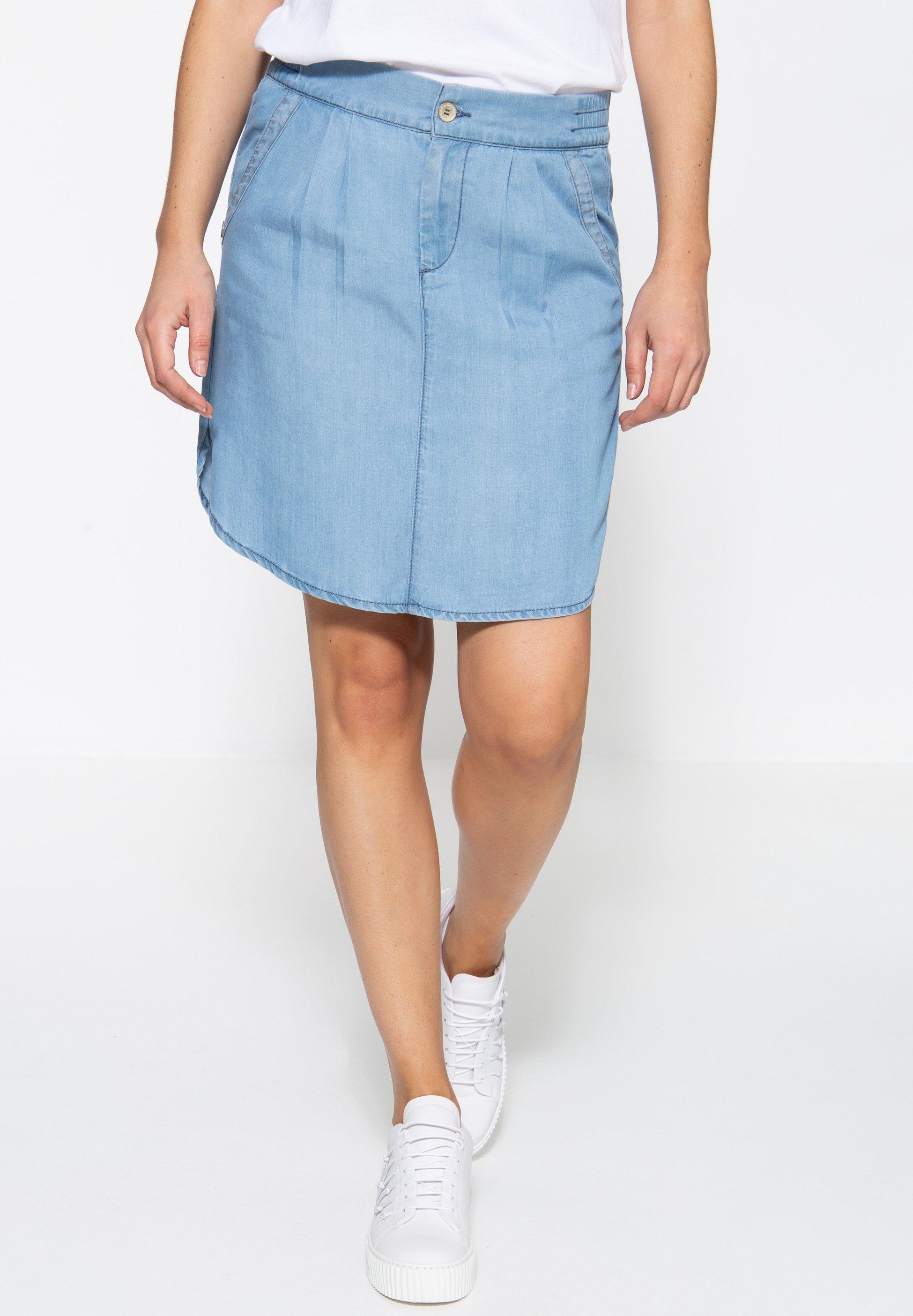 Femme MIT SANDWASH-EFFEKT AVA - Jupe en jean