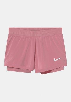 Pantalón corto de deporte - elemental pink/white